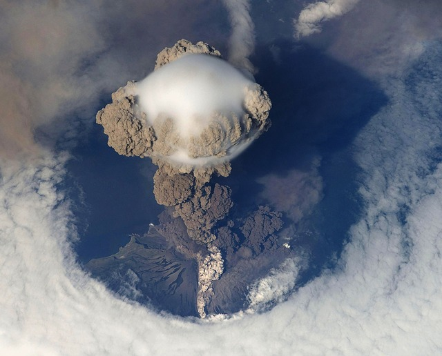 Positive and negative effects of volcanic eruption